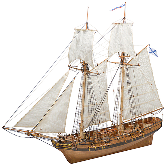 Shooner Polotsk 1788 Wooden Model Ship Kit - Master Korabel (MK0302P)