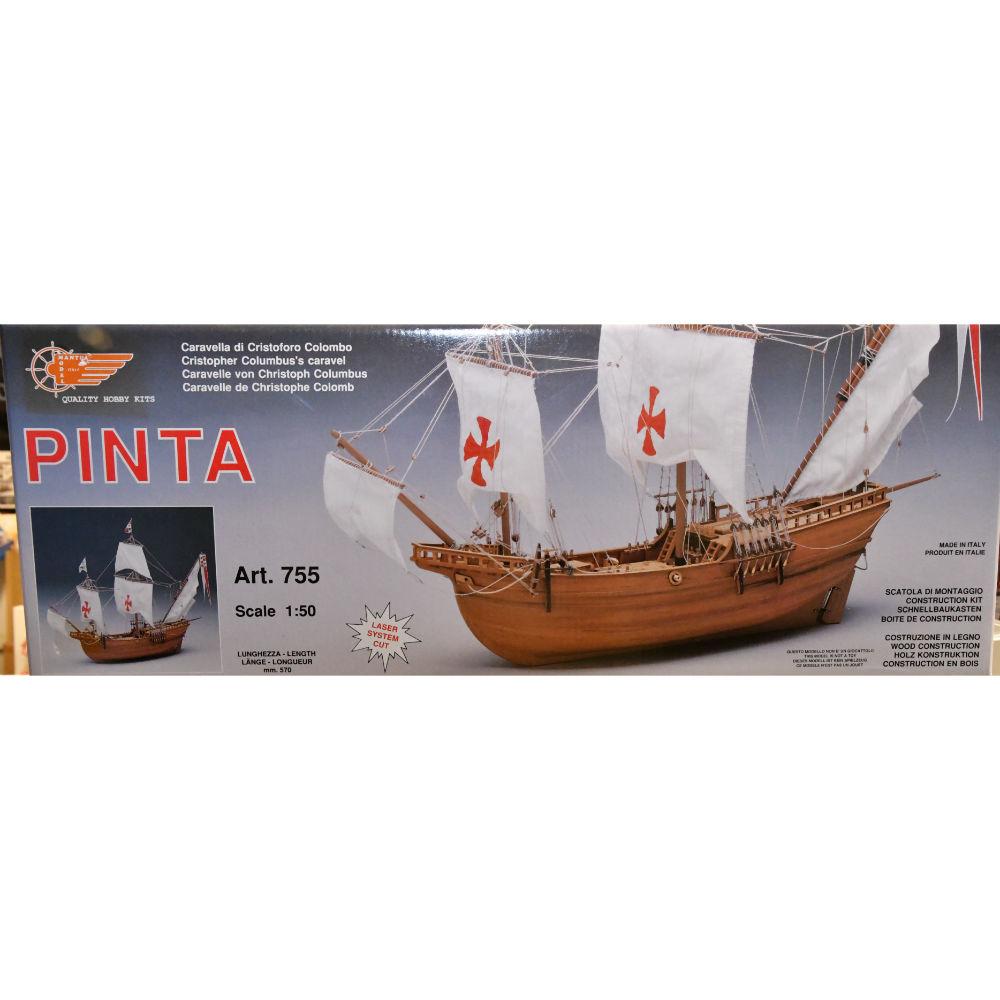 Pinta Caravel of Columbus Model Boat Kit - Mantua Models (755)