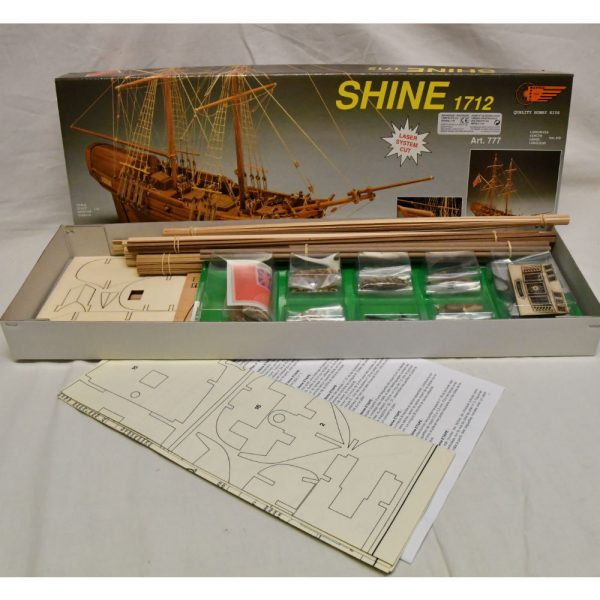 HMS Shine 1712 Cutter Model Boat Kit - Mantua Models (777)