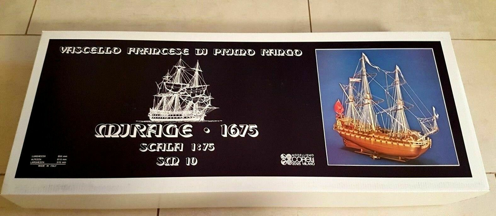 Le Mirage Model Ship Kit Corel (SM10)