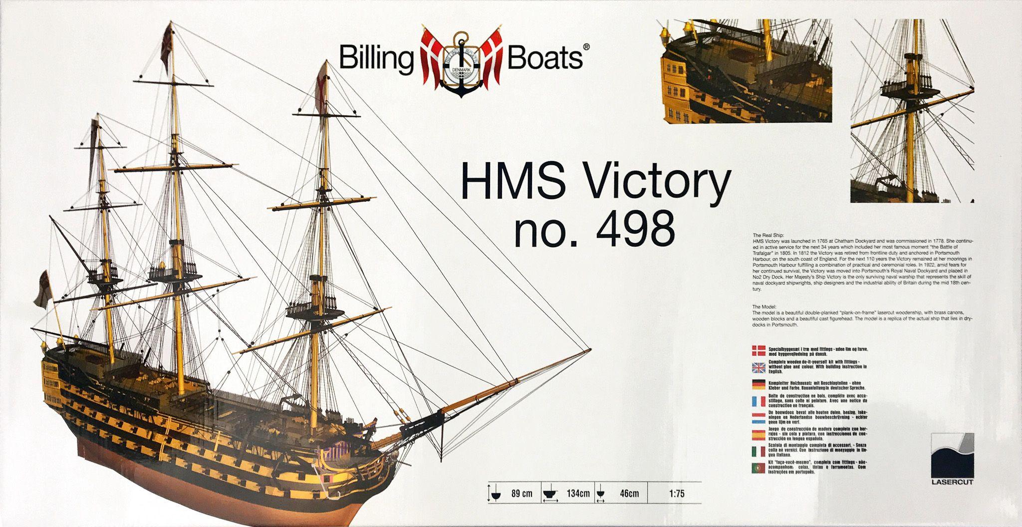 HMS Victory Model Ship Kit - Billing Boats (B498)