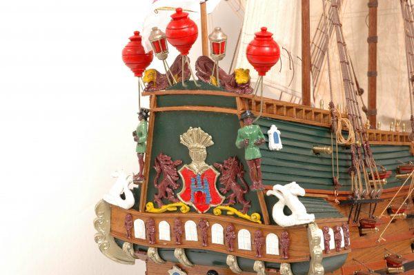 152-8216-Wappen-von-Hamburg-Ship-Model-Superior-Range