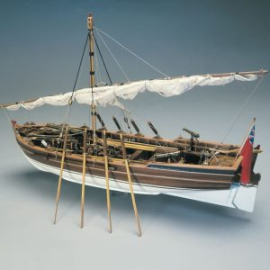 1571-13785-Armed-Pinnace-British-Navy-1800-Ship-Model-Kit-Panart-748