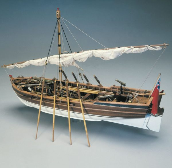 1571-13785-Armed-Pinnace-British-Navy-1800-Ship-Model-Kit-Panart-748