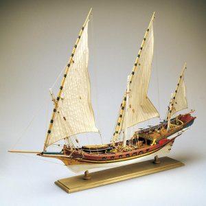 Xebec Model Boat Kit - Amati (1427)