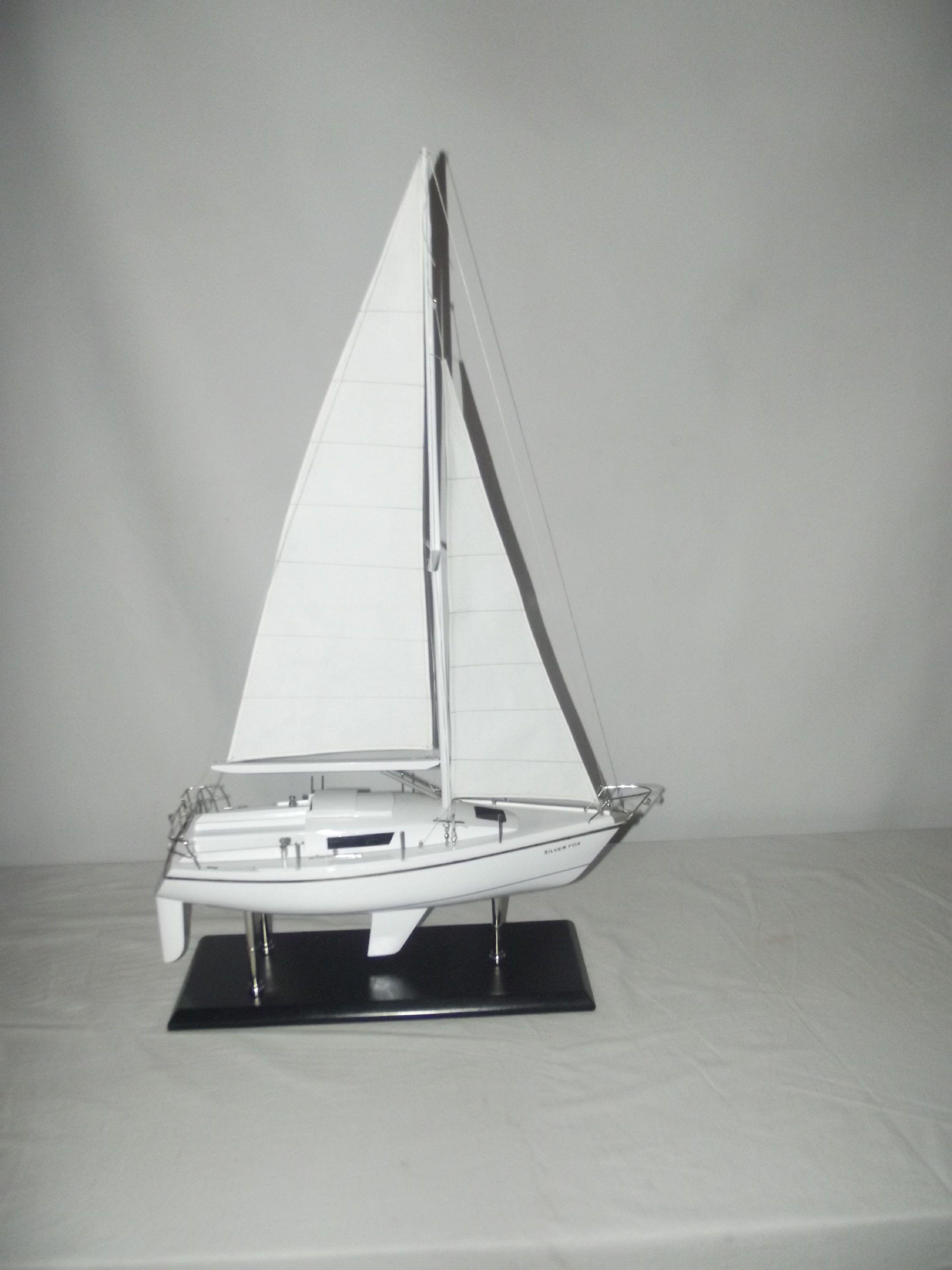 Silver Fox Laser 28 Sailing Boat