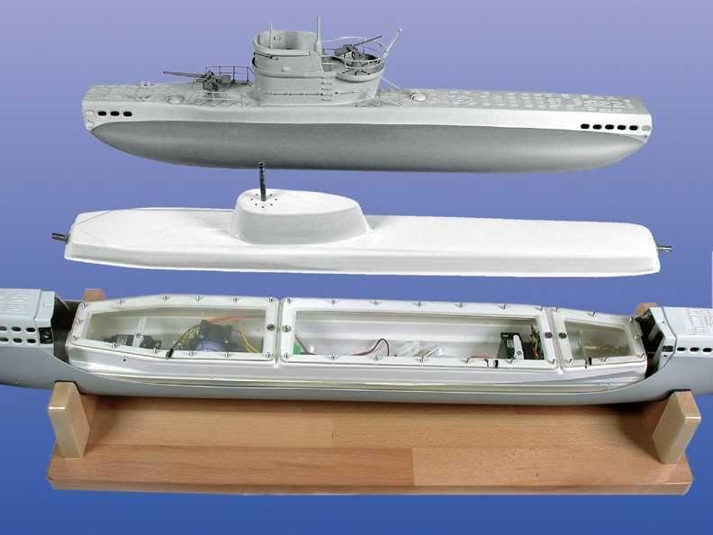 U-Boat Type VII Model Ship Kit - Krick (K20310C)