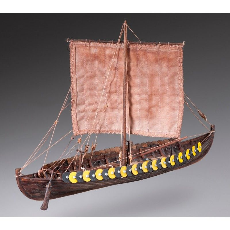 1880-11330-Viking-Gokstad-Model-Boat-Kit-Dusek-D002