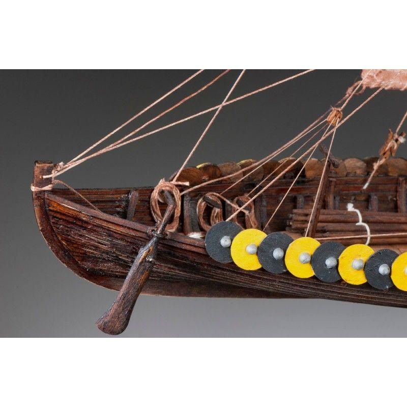 1880-11332-Viking-Gokstad-Model-Boat-Kit-Dusek-D002