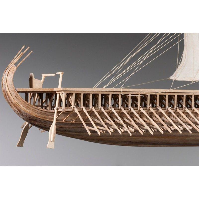 1882-11341-Greek-Trireme-Ship-Model-Kit-Dusek-D004