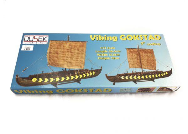 1884-13724-Viking-Gokstad-Model-Ship-Kit-Dusek-D006