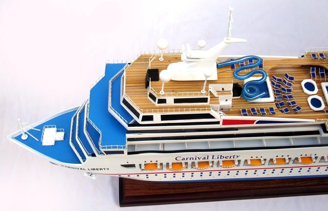 Carnival Liberty Wooden Model Boat - GN (CS0012P)