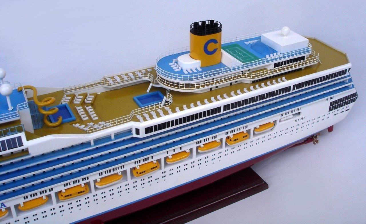 Costa Fortuna Wooden Model Boat - GN (CS0084P)
