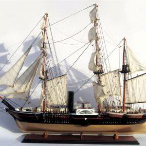 2004-11803-USS-Powhatan-wooden-model-boat