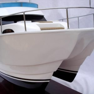 Twin-Hull Viking Sport Yacht Model Boat - GN (SB0036P)