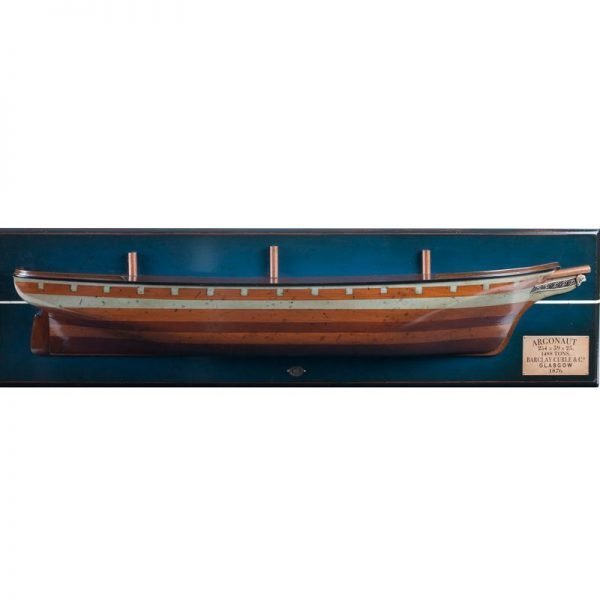 2039-12046-Thermpoylae-Clipper-Half-Ship-Model-Authentic-Modles-AS192