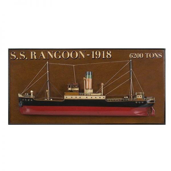 2041-12047-Rangoon-Steamer-Half-Model-Ship-Authentic-Models-AS300