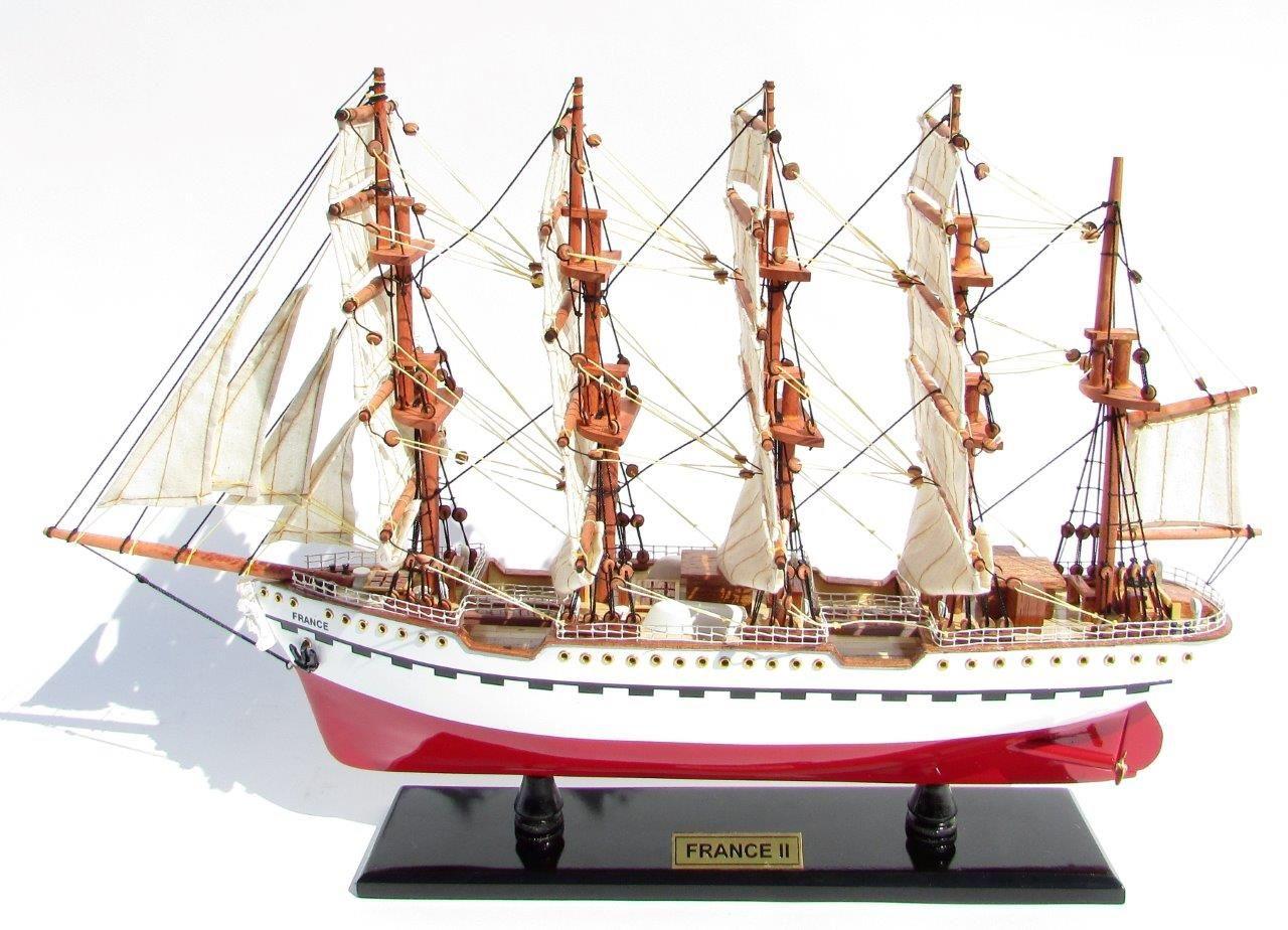 2045-12079-France-II-Wooden-Model-Ship