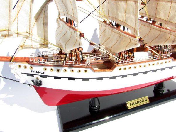 2045-12081-France-II-Wooden-Model-Ship