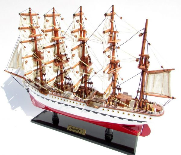 2045-12083-France-II-Wooden-Model-Ship