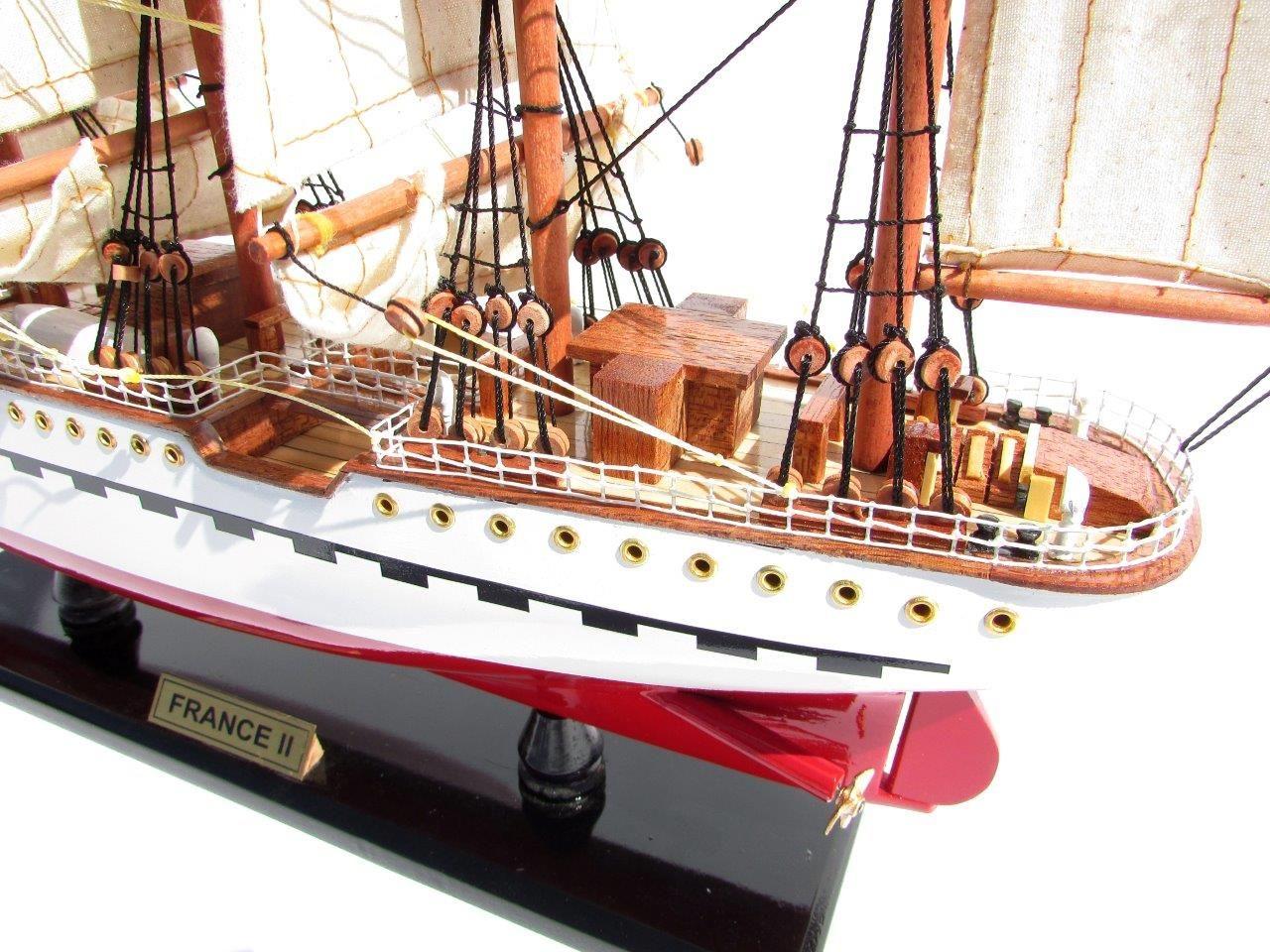 2045-12085-France-II-Wooden-Model-Ship