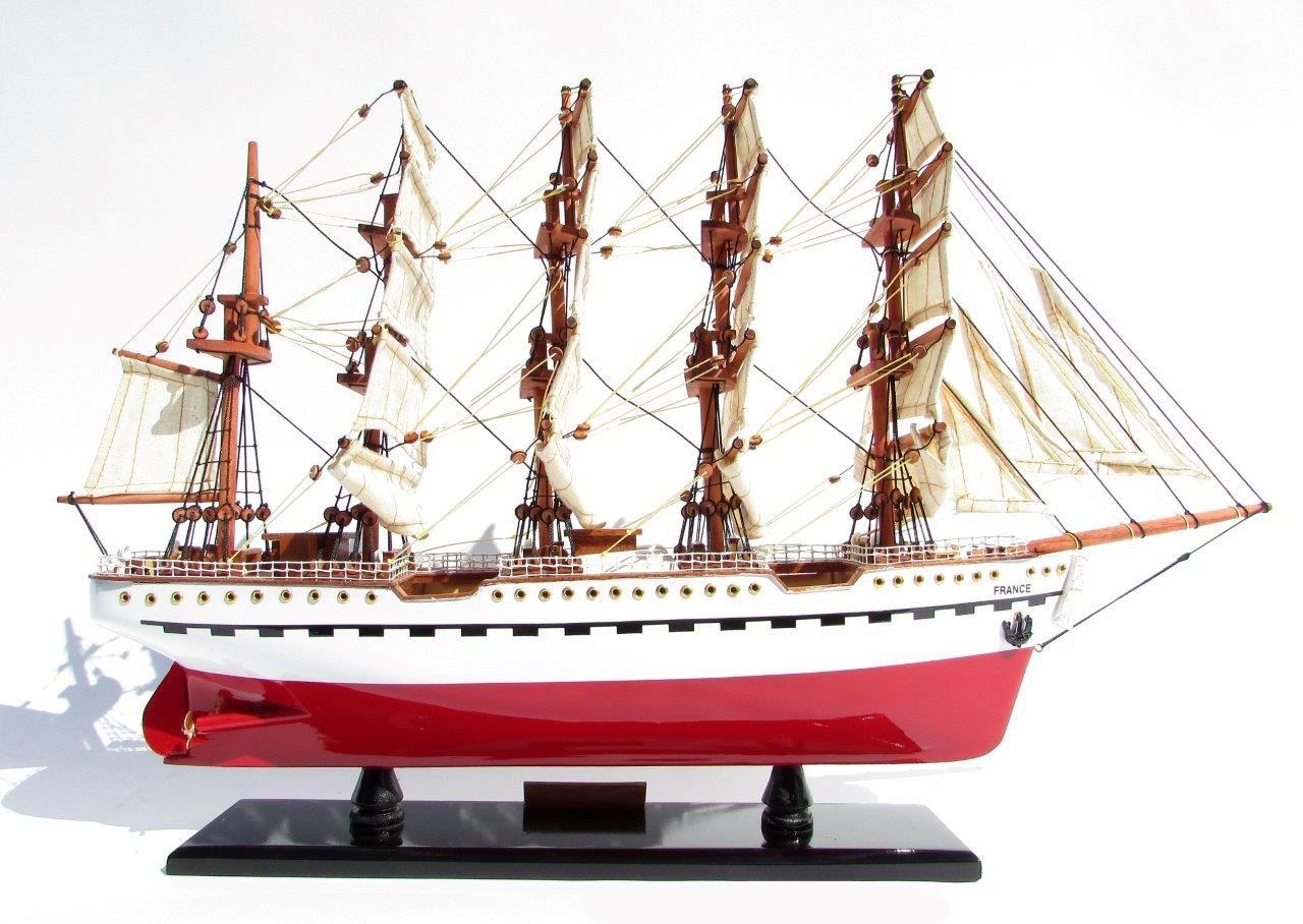 2045-12086-France-II-Wooden-Model-Ship