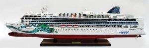 Norwegian Jade Wooden Model Ship - GN (CS0080P)
