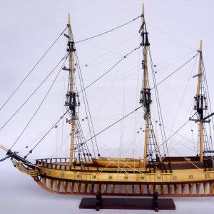 2097-12857-USS-Rattlesnake-Ship-Model-with-Frame-Hull
