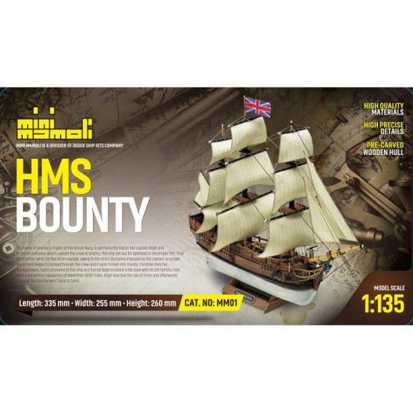 HMS Bounty Model Ship Kit - Mini Mamoli (MM01)