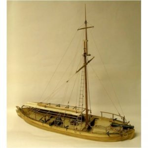 2125-12713-Gunboat-Philadelphia-1776-Boat-Kit-Model-Shipways-MS2263