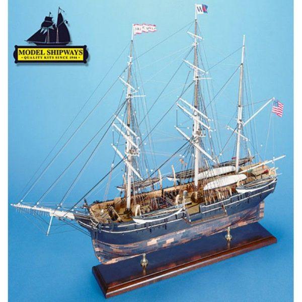 2135-12737-Charles.-W.-Morgan-Whaling-Bark-Ship-Kit-Model-Shipways-MS2140