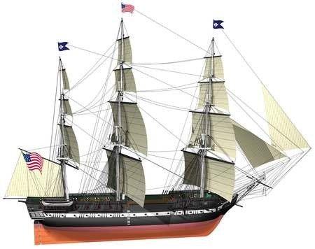 2349-USS-Constitution-Model-Ship-Kit-Billing-Boats-B508