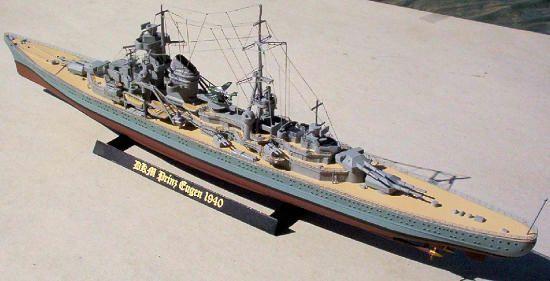 387-7909-Prinz-Eugene-Model-Boat-Kit-Basic-Set