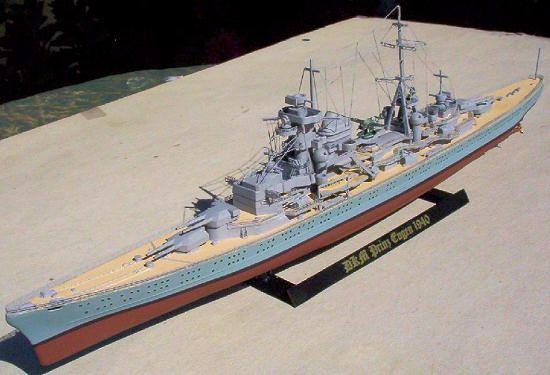 387-7911-Prinz-Eugene-Model-Boat-Kit-Basic-Set