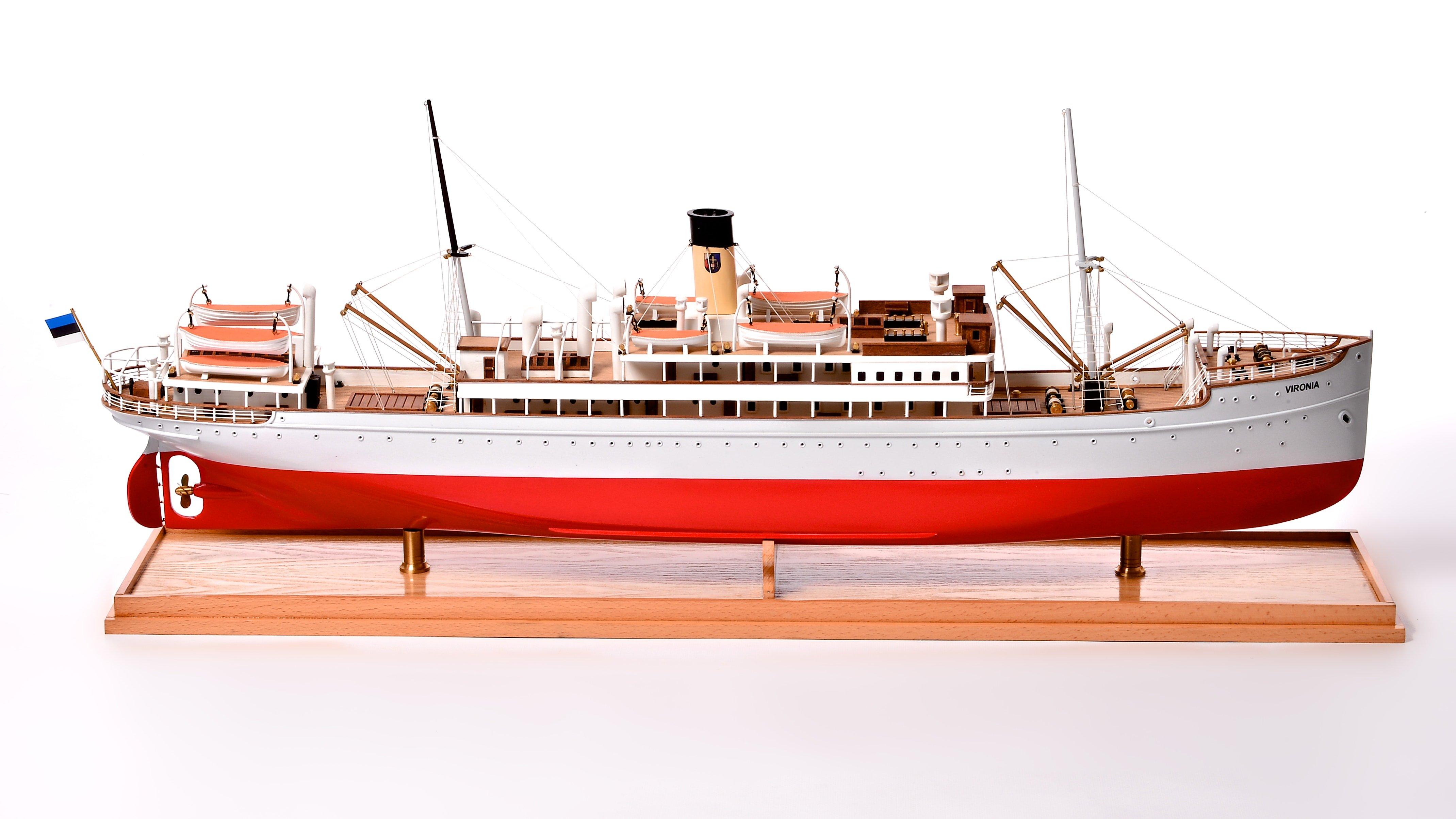 SS Vironia Passenger Ship Model