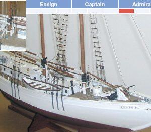 Bowdoin Yacht Model Boat Kit - BlueJacket (KLW128)