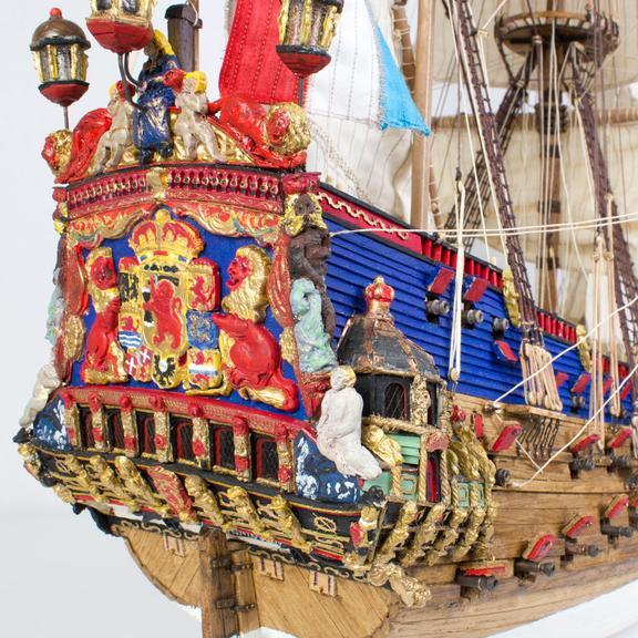 Zeven Provincien (Walnut) Wooden Model Ship Kit - Kolderstok (KOL4)
