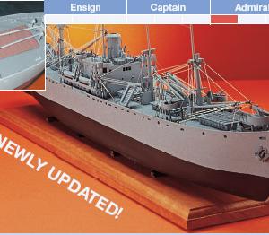 S.S. Jeremiah O' Brien Model Boat Kit - BlueJacket (K1025)