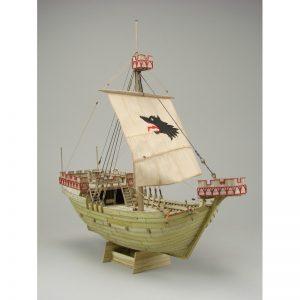 Wütender Hund Kogge 1390 Wooden Model Ship Kit - Shipyard (ZL050)